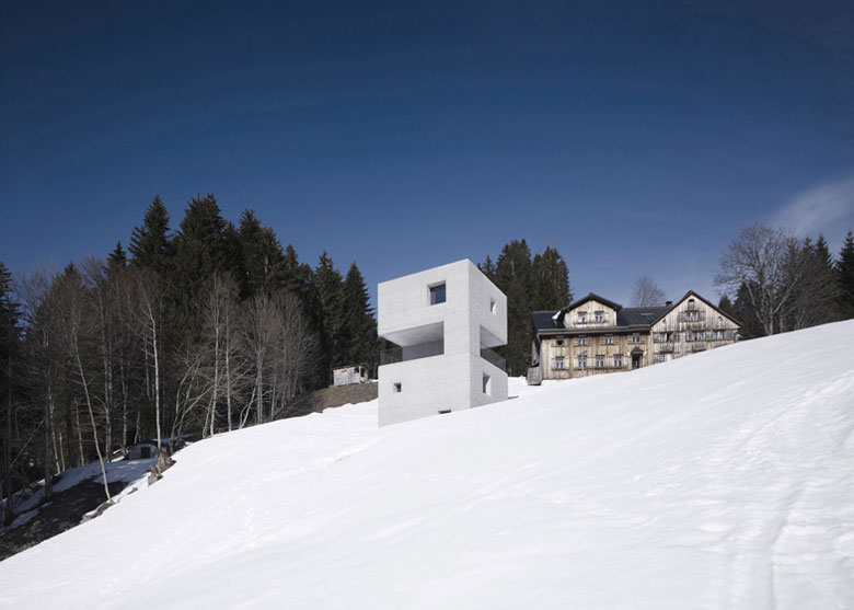 Surrounded by snow Mountain Cabin by Marte.Marte in Voralberg Austria