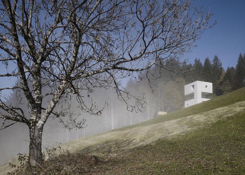 View of the Mountain Cabin by Marte.Marte in Voralberg Austria