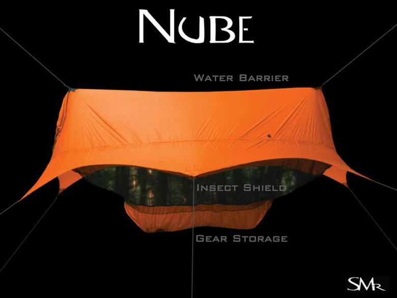 Orange Nube Hammock Shelter by Sierra Madre