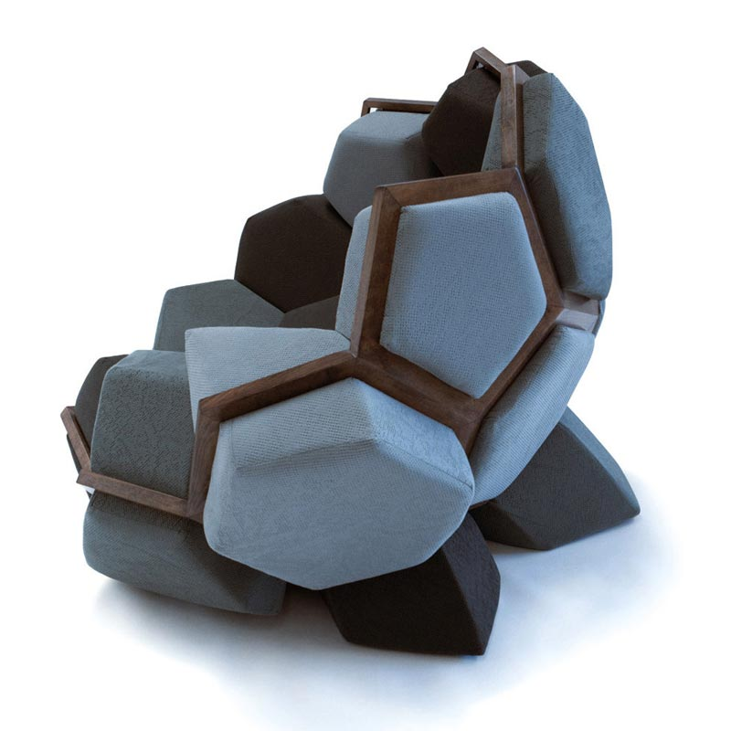 Quartz Armchair by CTRL ZAK and Davide Barzaghi 1