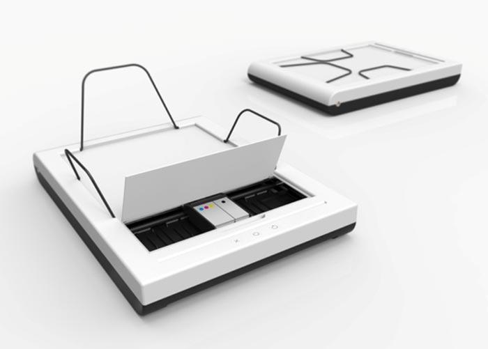Stack Trayless Inkjet Printer by Mugi Yamamoto
