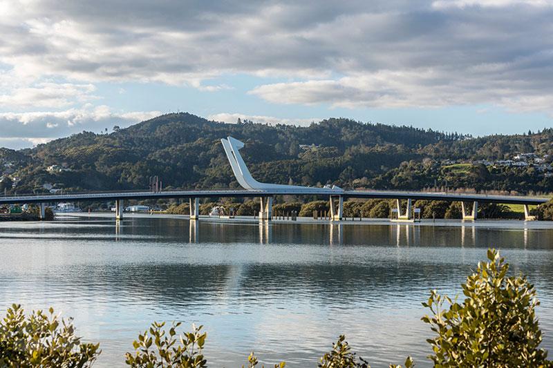 Te Matau Pohe aka 'Fish hook of Pohe' Bridge in Whangarei New Zealand Knight Architects
