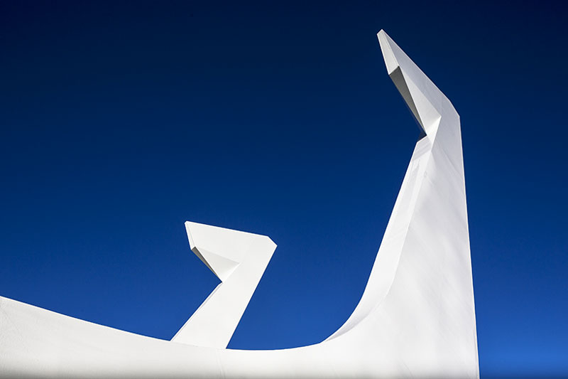 Fish hook of the Te Matau Pohe aka 'Fish hook of Pohe' Bridge in Whangarei New Zealand Knight Architects