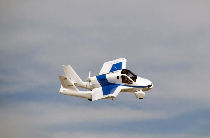Terrafugia Transition Flying Car airborne