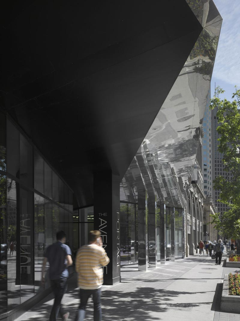 Street view of The Avenue On Portage by 5468796 Architecture
