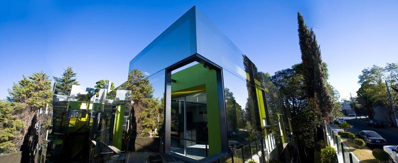 Trevox 223 Reflective Building by CRAFT Arquitectos