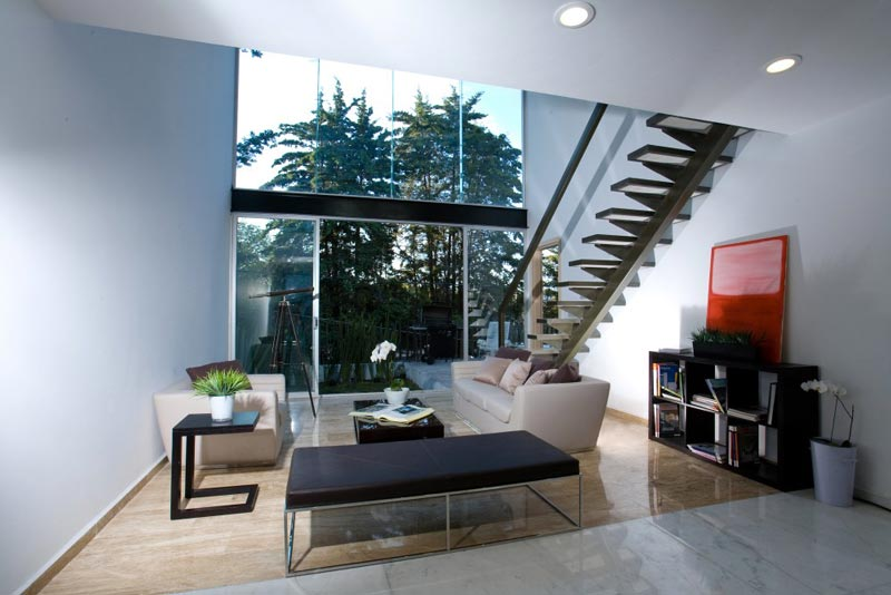 Interior design of the Trevox 223 Reflective Building by CRAFT Arquitectos