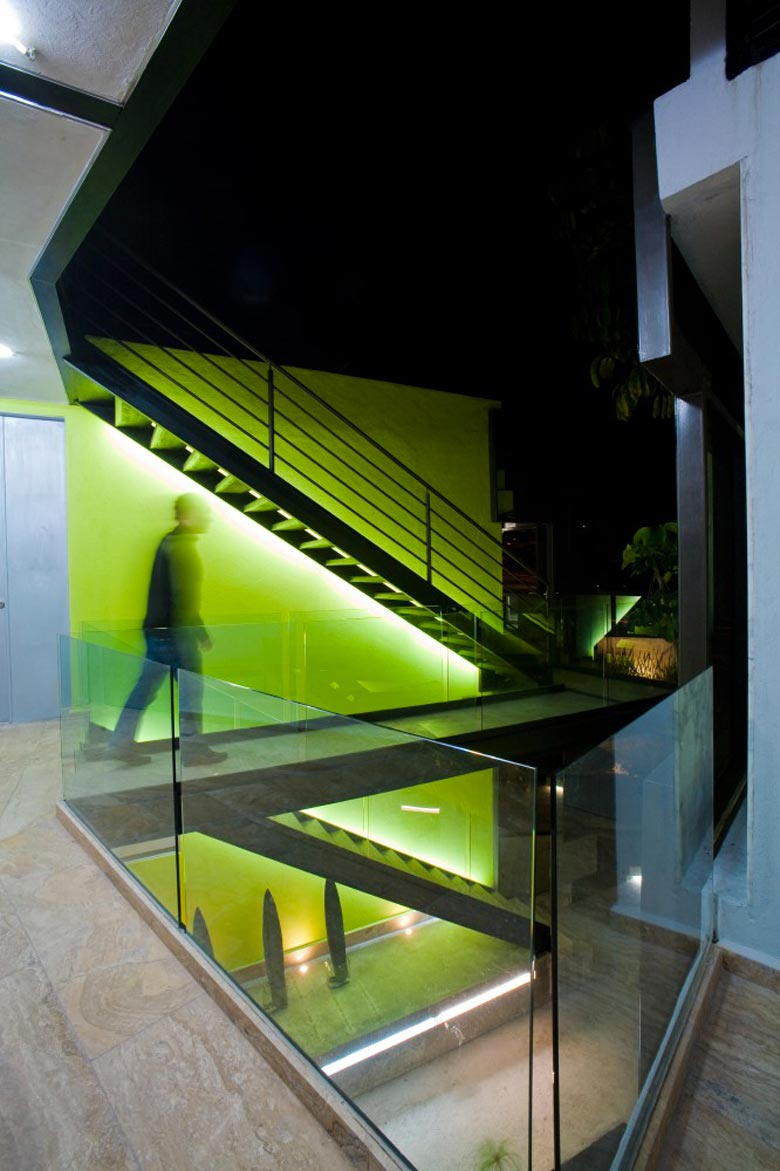 Stairs at the Trevox 223 Reflective Building by CRAFT Arquitectos