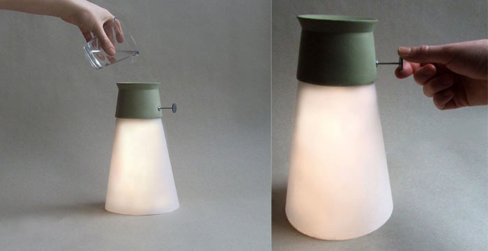 WAT LED Lamp Powered by water by Manon LeBlanc on Jebiga
