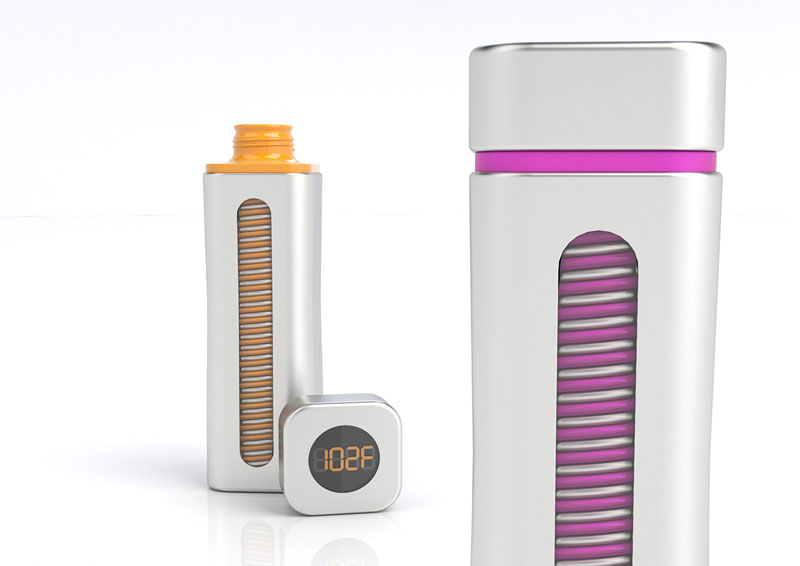2 Warm Tech Bottles, Hand Powered Thermos