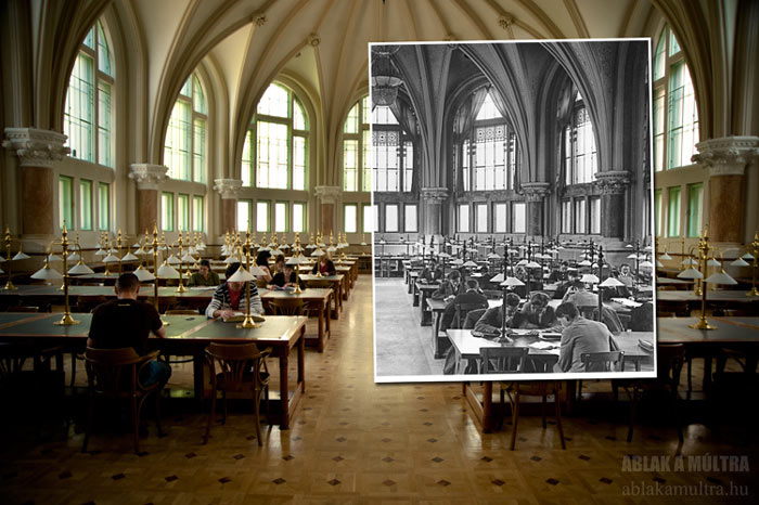 Ablak a Multra A Window to the Past in a library in Budapest