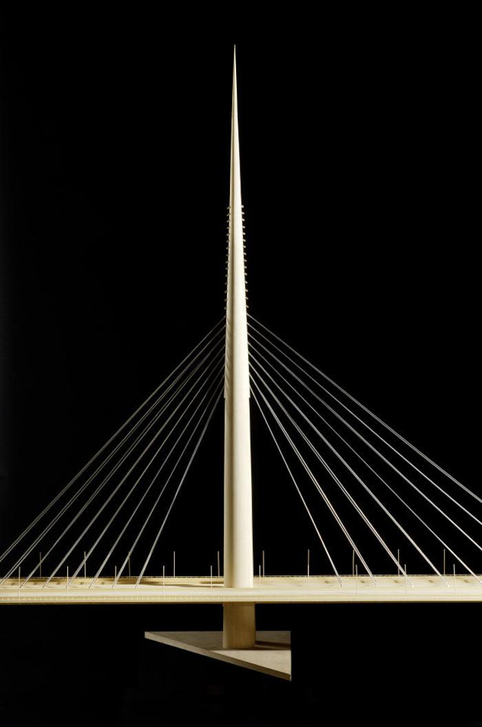 Maquette of the Ada Bridge in Belgrade, Serbia