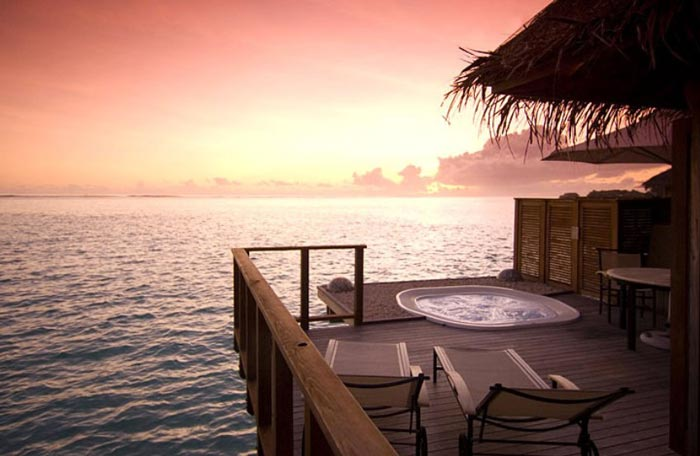 Hot tub jacuzzi at the Conrad Maldives Rangali Island Hotel
