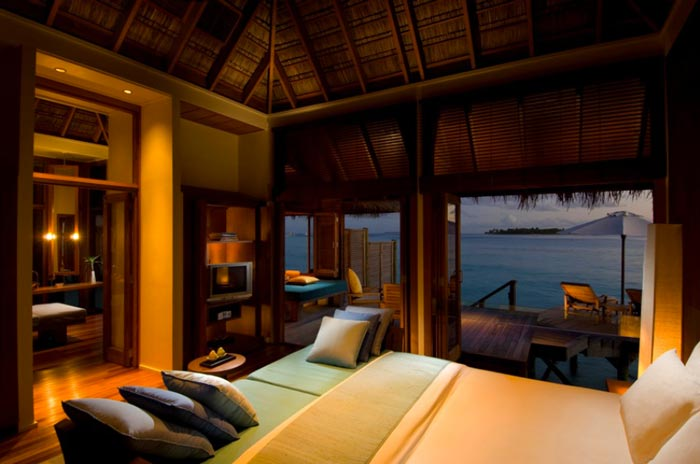 Conrad Maldives Rangali Island Hotel Bedroom suite in a beach villa