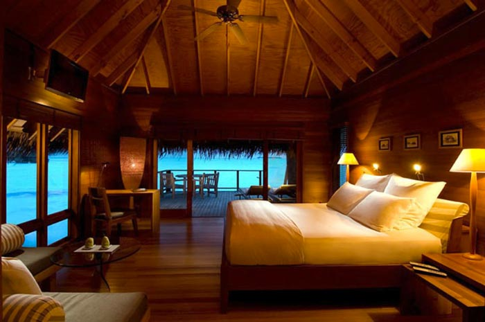 Bedroom at the Conrad Maldives Rangali Island Hotel