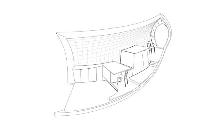 Room plan of Curved Hus-1 by Torsten Ottesjo Architecture