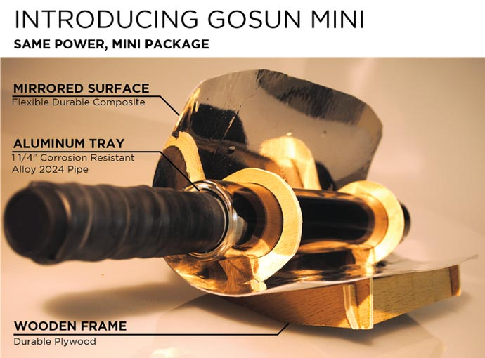 GoSun Solar Mini size Solar cooker