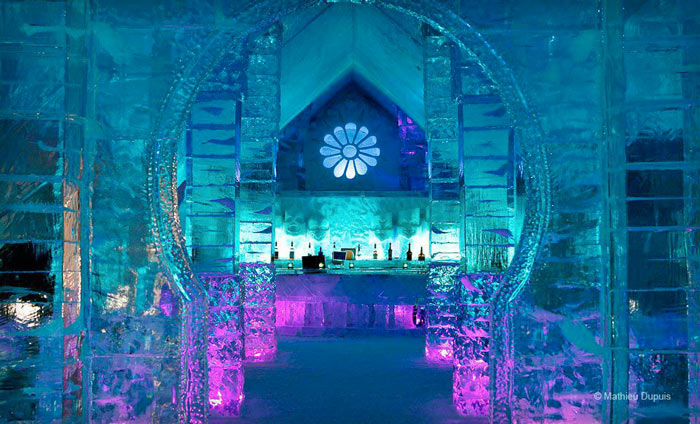 Chapel at the Hotel de Glace, An Ice Hotel Quebec City, Canada
