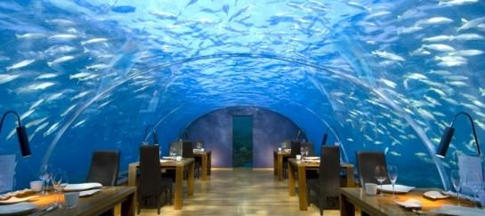 Ihtaa Underwater Restaurant at Conrad Maldives Rangali Island