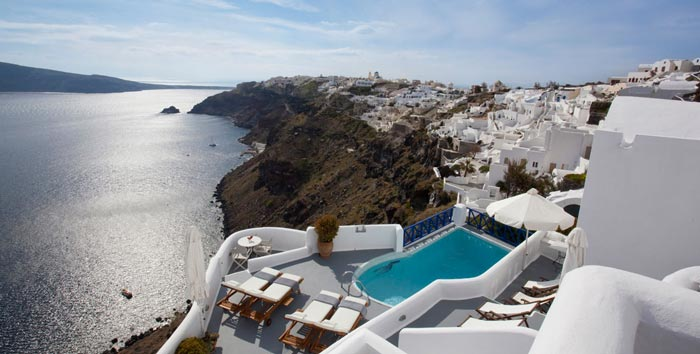 Scenery from Ikies Traditional Houses in Santorini