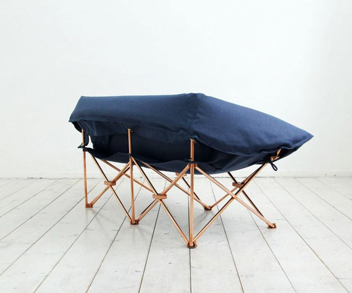 Unfolded KAMP Foldable Sofa KamKam Studio