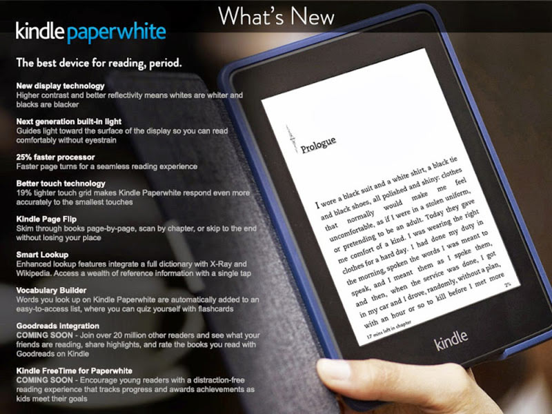 Kindle Paperwhite 2 Technical Specifications