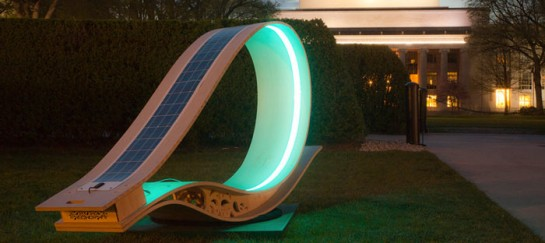 MIT SOFT Rockers | Solar Powered Charging Station & Rocking Chair