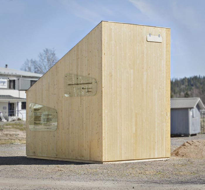 Exterior design of theMicro Cottage for Students at Virserum Art Museum Sweden
