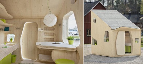 10 Square Meter Micro-Cottage for Students at Virserum Art Museum in Sweden