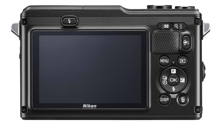 Display of the Nikon 1 AW1 Waterproof Shockproof Digital Camera