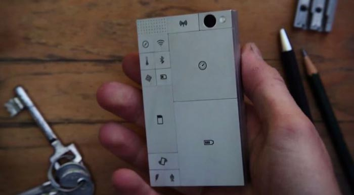 Man holding the PHONEBLOCKS Smartphone Modular Mobile Phone