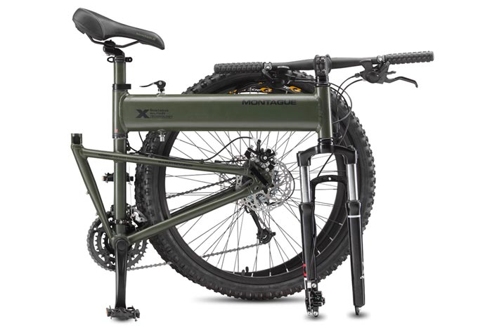 Folded Paratrooper Folding Bicycle by Montague