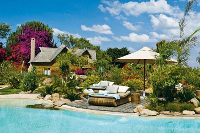 Swimming pool at the Segera Retreat in Kenya