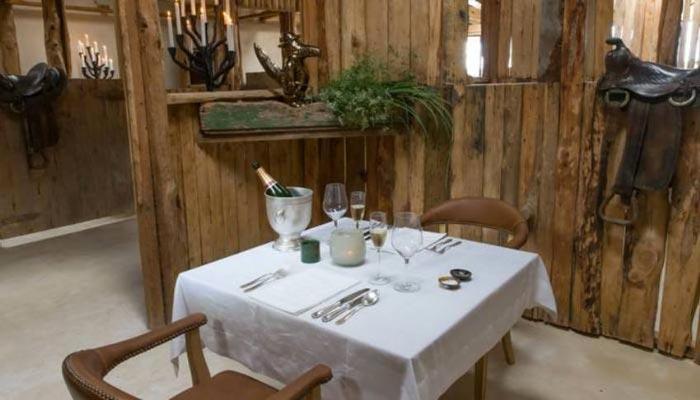 Restaurant table at the Segera Retreat in Kenya