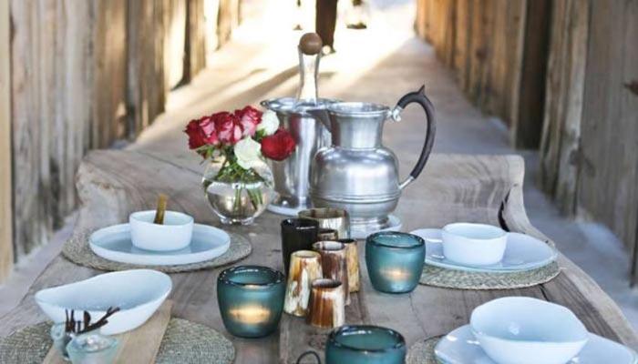 Tea table at the Segera Retreat in Kenya