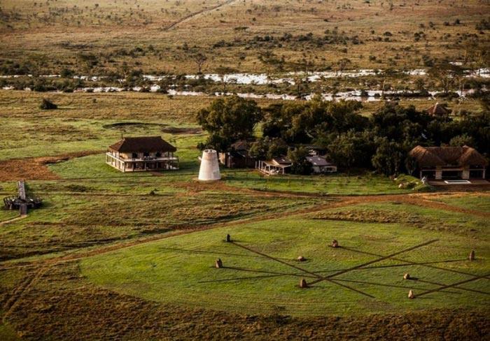 Aerial view of the Segera Retreat in Kenya