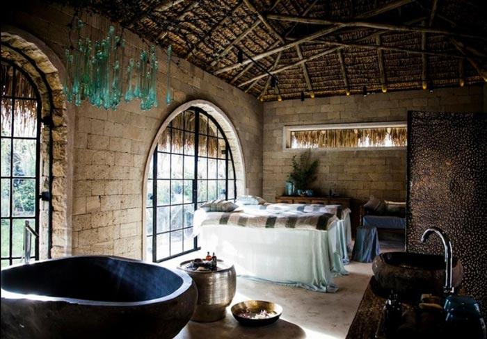 Spa and massage room at the Segera Retreat in Kenya