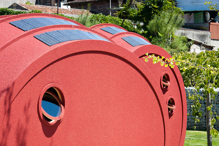 Exterior view of the Shelter ByGG Portable Accommodation by Gabriela Gomes