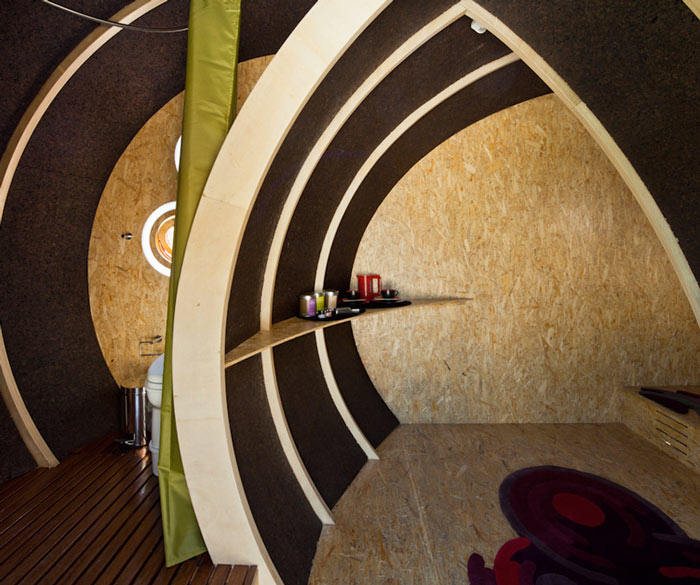 Interior design of Shelter ByGG Portable Accommodation by Gabriela Gomes
