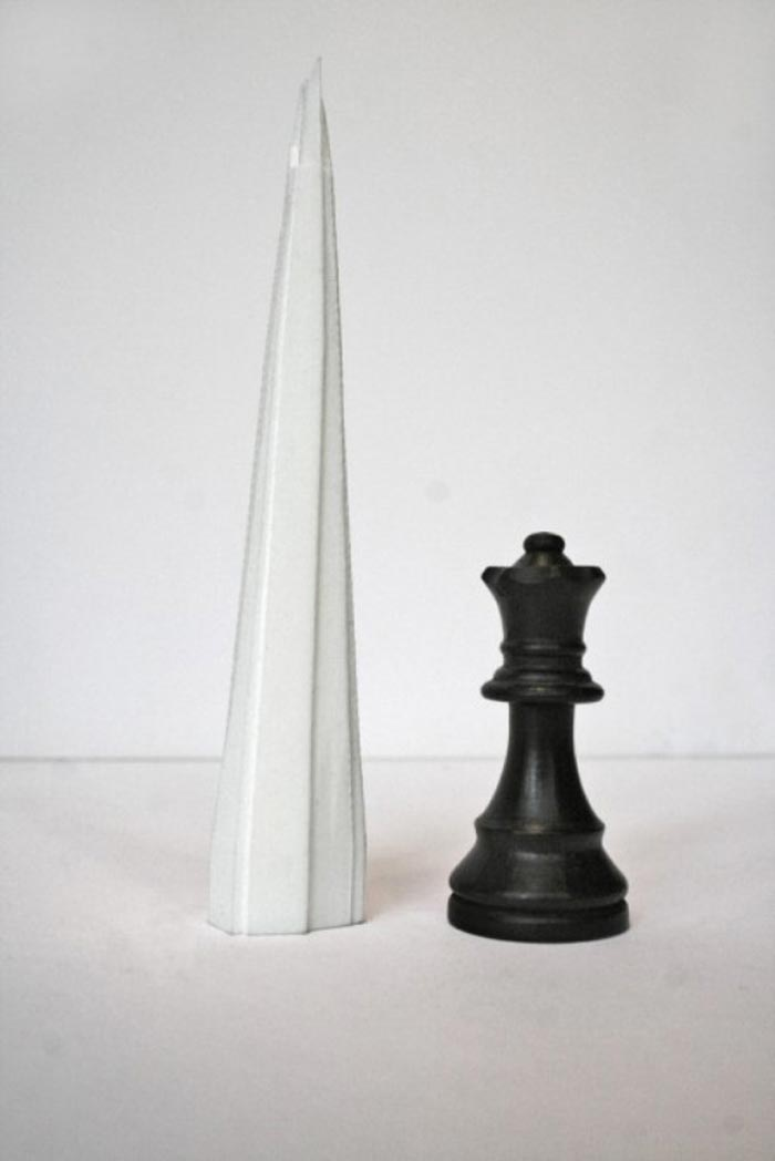Skyline Chess Set piece and white landmark