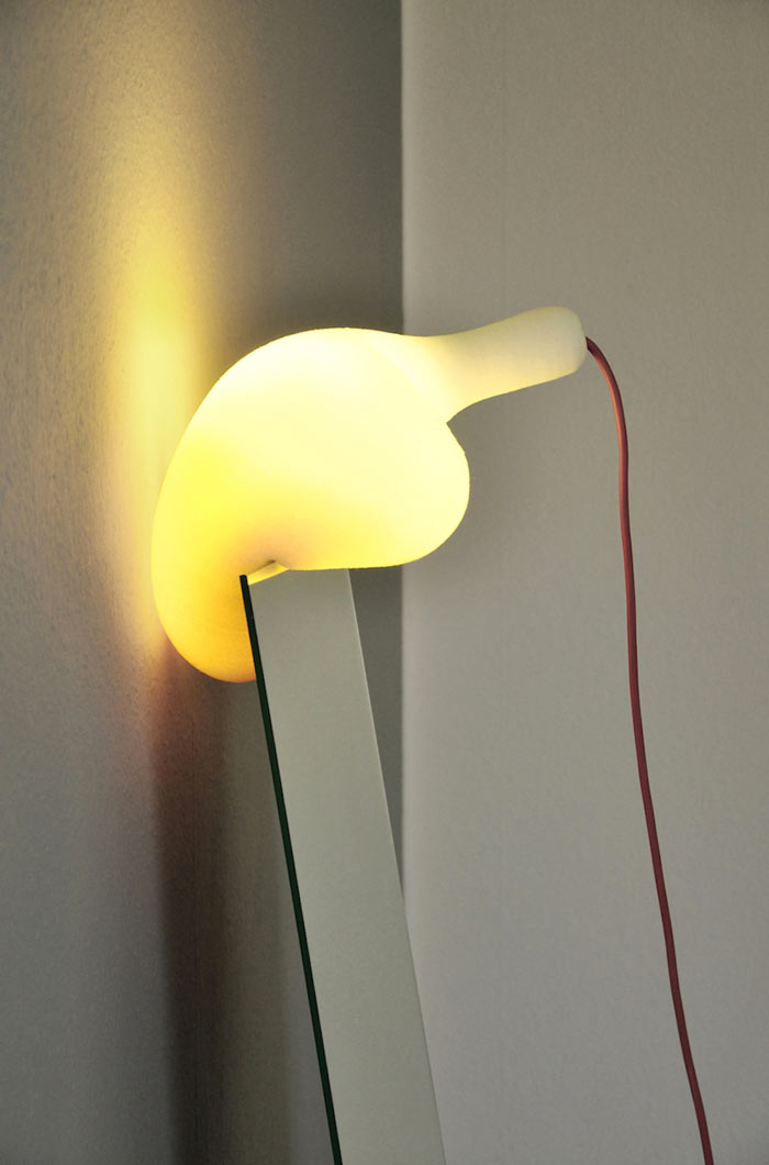 Soft Light Lamp and Pillow by Simon Frambach