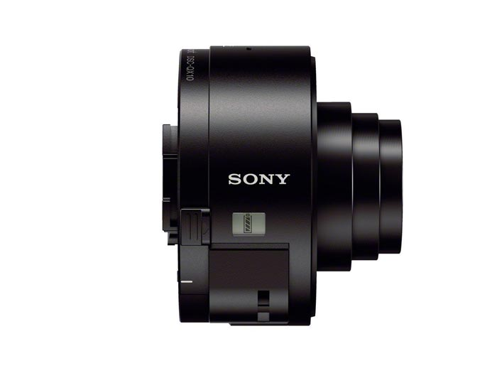 Side view of the Sony DSC-QX10 Smartphone Attachable Lens Camera