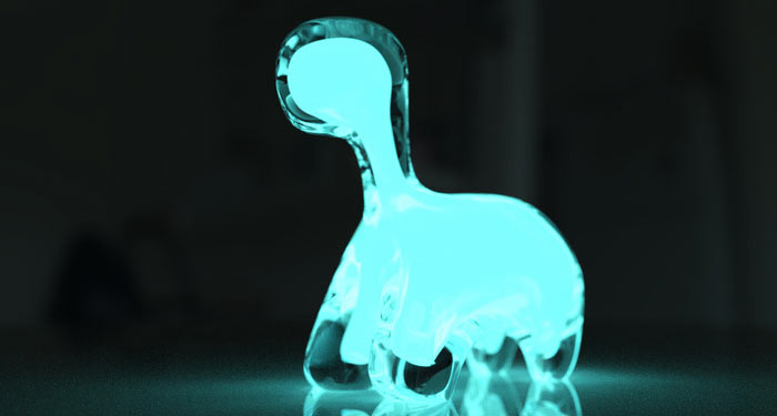 The Dino Pet: A Bioluminescent Dinosaur Pet on Jebiga