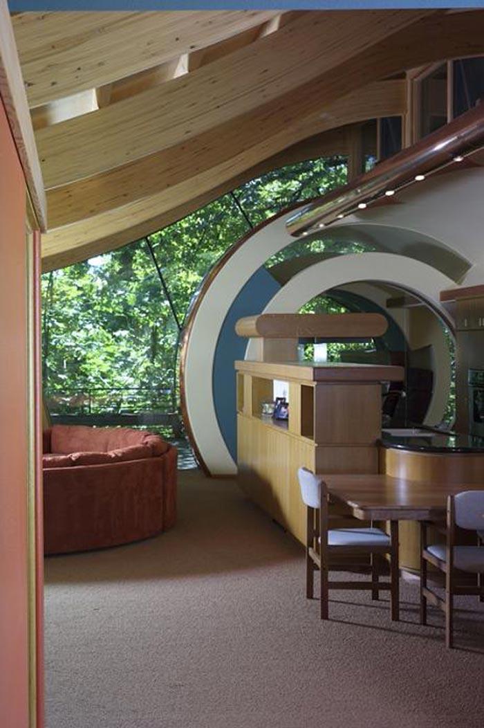Interior decor of a Treehouse Mansion in Portland, Oregon by Robert Harvey Oshatz
