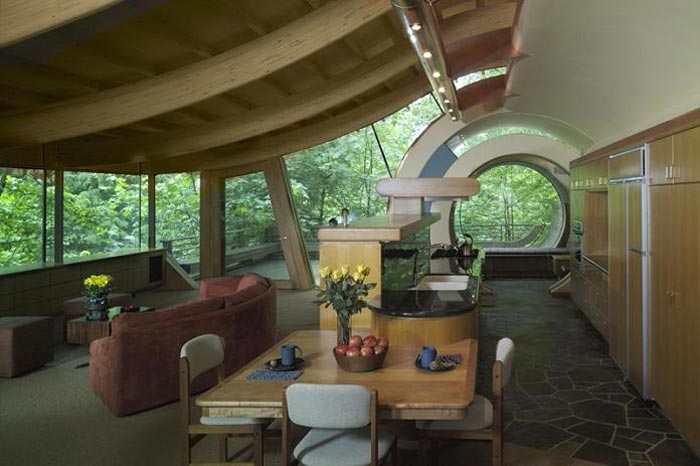Interior design of the Treehouse Mansion in Portland, Oregon by Robert Harvey Oshatz