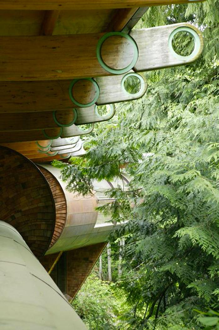 Roofing beams at a Treehouse Mansion in Portland, Oregon by Robert Harvey Oshatz