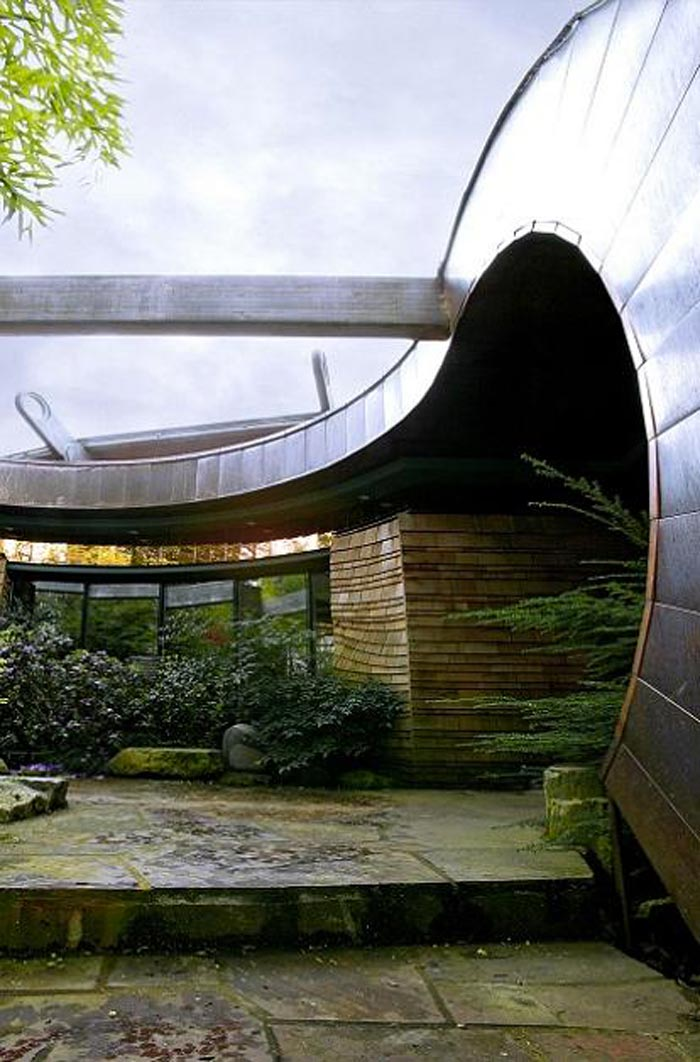 Exterior of a Treehouse Mansion in Portland, Oregon by Robert Harvey Oshatz