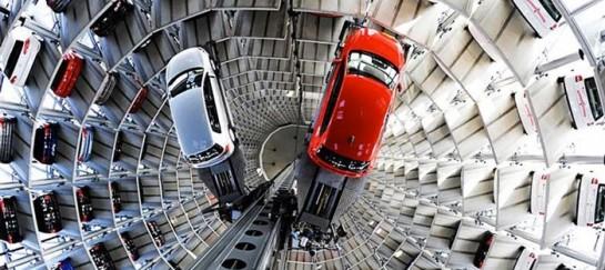 Volkswagen's Car Park at AutoStadt by HENN Architekten