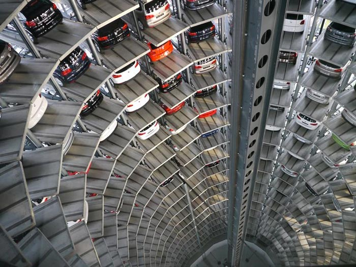 Volkswagen S Car Park At Autostadt By Henn Architekten