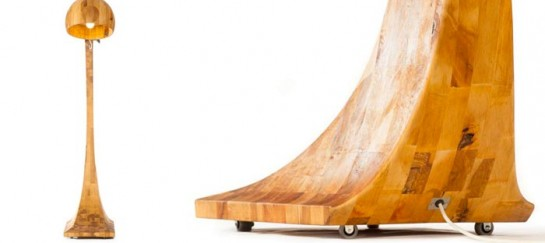 WOOBIA WOODEN FLOOR LAMP   BY ABADOC